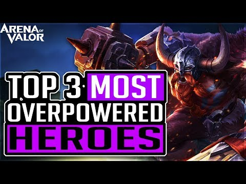 TOP 3 BEST HERO TO RANK UP TO CONQUEROR in ARENA OF VALOR | 傳說對決