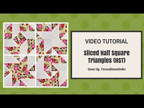 tutorial patchwork - disappearing half square triangles