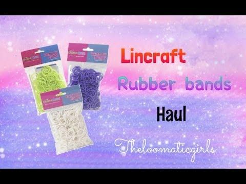 Rainbow Loom//Lincraft Rubber Bands Haul