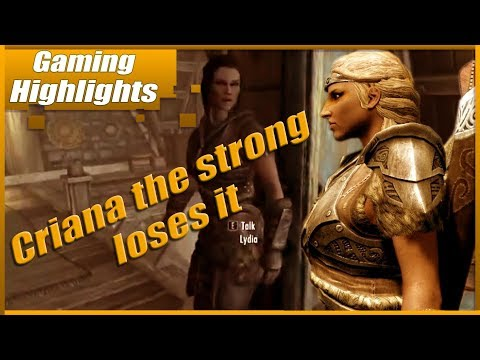Criana the strong loses it (Skyrim)