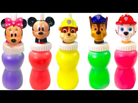 Opening Paw Patrol and Mickey Mouse Slime (видео)