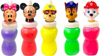 Opening Paw Patrol and Mickey Mouse Slime