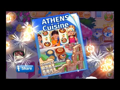 Cooking Craze/ Town Athens/ NEW RESTAURANT/ Levels 40 💥 And 41/🥛🍰🍽🥃