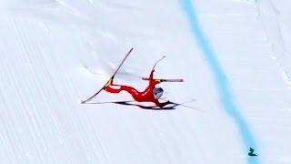 Video High Speed Ski Crash in 4K - Simon Billy Vars 2017 from the 245kmh start. MP3, 3GP, MP4, WEBM, AVI, FLV Juni 2018