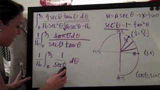 Trigonometric Substitution Example 1 PART 3/3