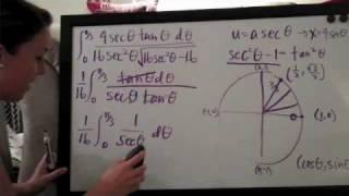 Trigonometric Substitution Example 1 PART 3/3