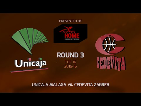 Highlights: Top 16, Round 3, Unicaja Malaga 90-67 Cedevita Zagreb
