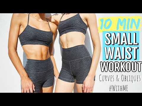 10 MIN Small Waist Workout- No Equipment  // Curves & Flat Belly // Sanne Vloet - #WithMe