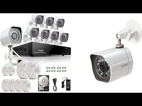 Zmodo 8 Channel POE NVR Cameras System With 1TB HDD, DIY Install & Crisp Clear Video Quality