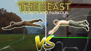 The BEAST Stunts and Parkour - In Real Life (SPLIT and GLASS movie)