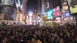 2016 NEW YORK Times Square New Year's Eve 2016