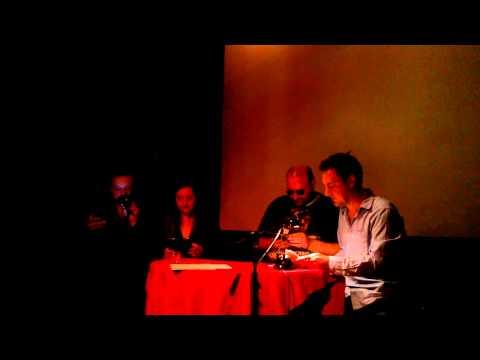 Jan Uwe Fitz, Luci van Org, Roman Shamov und Enno Park in der Z-Bar lesen ein