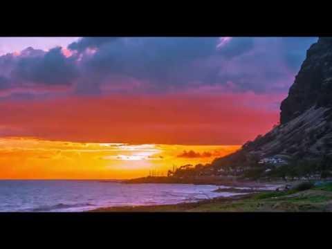 Oahu Hawaii sunset on the west side