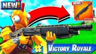 NEW LEGENDARY PUMP SHOTGUN IS BROKEN in Fortnite Battle Royale!