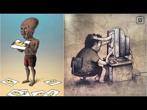 20 bức tranh phản ảnh sự giả rối phải chăng đang tràn ngập trong thế giới chúng ta? - Thời lượng: 4 phút và 10 giây.