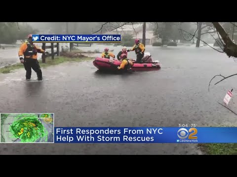 First Responders From NYC Help With Storm Rescues
