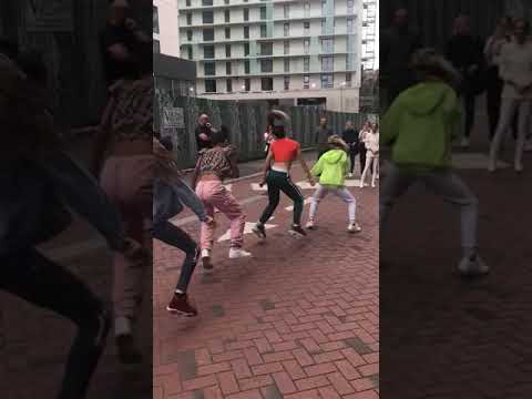 Manchester Spice Girls fans surprise Geri Halliwell with dance routine outside The Lowry Hotel