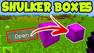 "Minecraft PE 1.0 // ""SHULKER BOXES"" MCPE 1.0 Update Addon SHULKER BOXES - Minecraft Pocket Edition"
