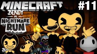 Bendy in Nightmare Run in Minecraft Part 11 - Map Showcase