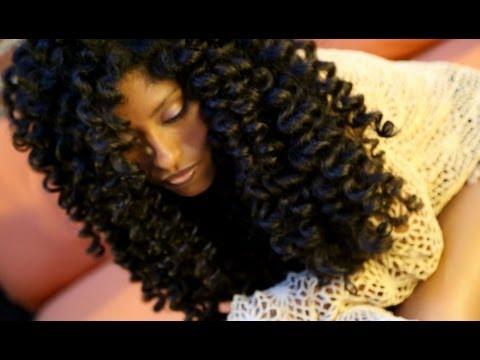Natural Hair No Heat Curls & Waves Flexi Rod Tutorial