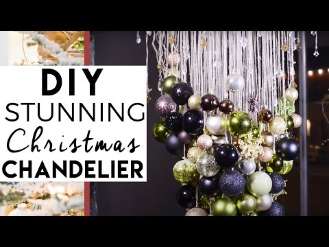 Christmas Decorating and Christmas Decorations. DIY . Inverted Christmas Tree chandelier