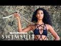 Chanel Iman Looks Danger In The Eyes, Charms A Python | Uncovered | Sports Illustrated Swimsuit