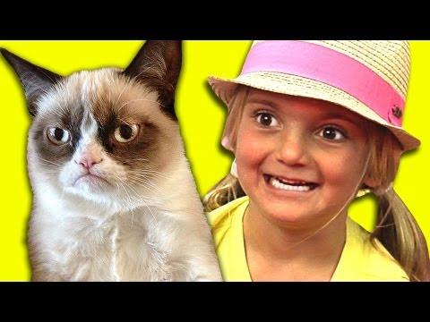 KIDS REACT TO GRUMPY CAT