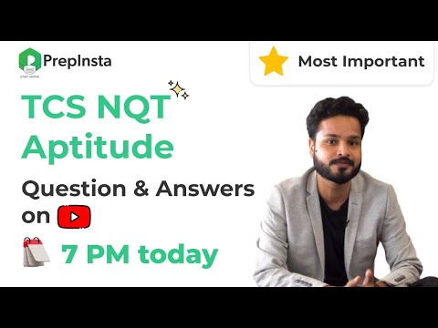 (Most Important) TCS NQT Aptitude Questions and Answers
