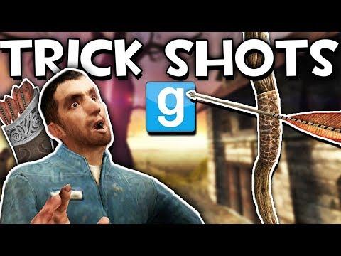 GMOD ARCHERY TRICK SHOTS?! | Garry's Mod Sandbox Fun (видео)