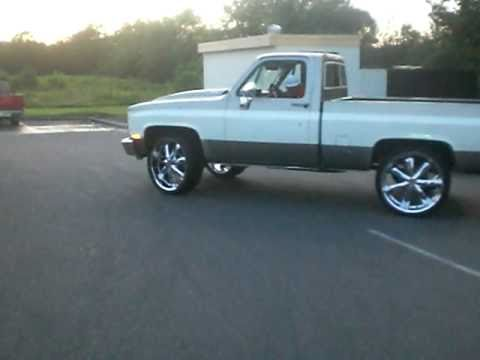 Short Bed Silverado Truck Short Bed Silverado on 26s