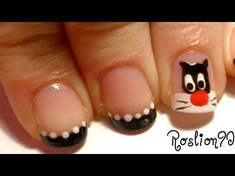 nail art - gatto silvestro