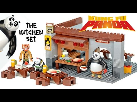Kung Fu Panda 3 The Kitchen Set Unofficial LEGO Set Speed Build W/ Master Po Ping