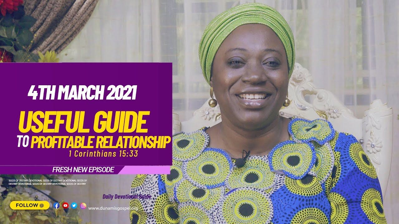 Seeds of Destiny 4th March 2021 Summary by Dr. Becky Paul-Enenche (Video)