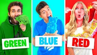 Video Eating Only ONE Color of Food for 24 Hours! (Rainbow Food Challenge) MP3, 3GP, MP4, WEBM, AVI, FLV Agustus 2019