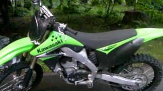 9. 2009 Kawasaki KX250F Startup and Walkaround KXF 250