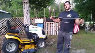 10. How to replace cub cadet drive belt without taking off mower deck