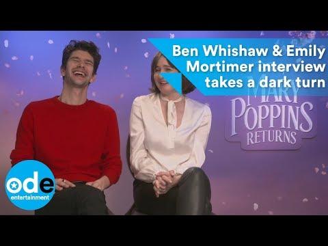Ben Whishaw & Emily Mortimer interview takes a dark turn