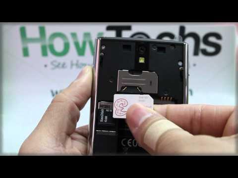 Dell Venue: Inserting the SIM Card