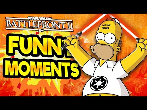 Star Wars Battlefront 2 Funny Moments Montage [FUNTAGE] #23 - Simpsons Special! (видео)