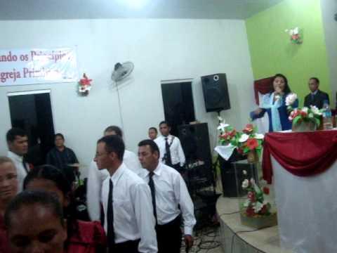 Maria Amparo  abertura com entrada circulo de oração e crianças, AD. de Água Azul do Norte - PA,