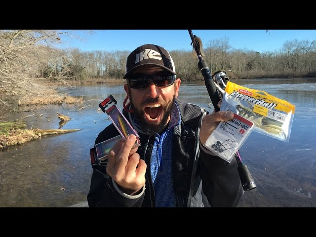Pond fishing tips for winter bass ft mike iaconelli for Pond fishing tips
