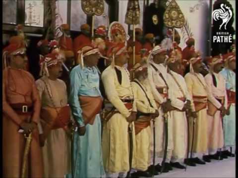 Royal visit to Udaipur by Queen Elizabeth II in 1961