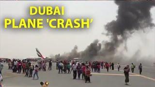 WATCH: #Emirates flight catches fire after landing in Dubai