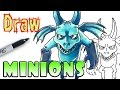 How to Draw Minions - Clash Royale - Coloring Page