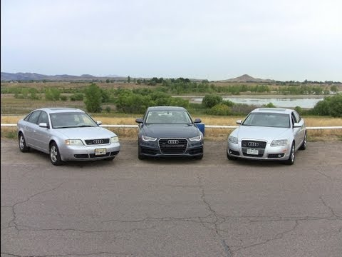 The ultimate Audi A6 Quattro Nose to Tush Drag Race: 2000 vs 2005 vs 2012