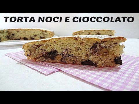 video ricetta: torta noci e cioccolato