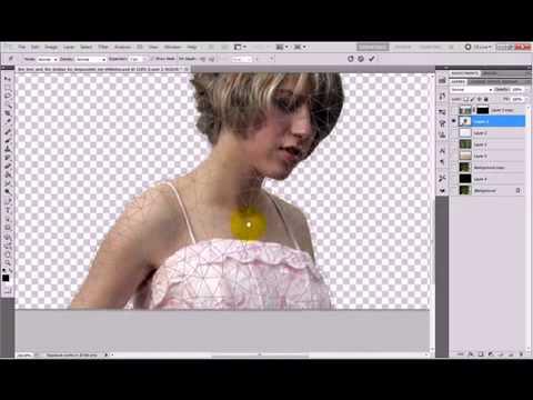 Ferramenta de Transformação Livre e Puppet Warp   Photoshop CS5