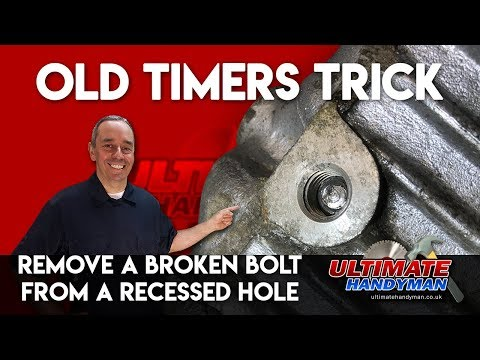 How to remove a broken bolt in a deep hole | remove broken bolt in recessed hole