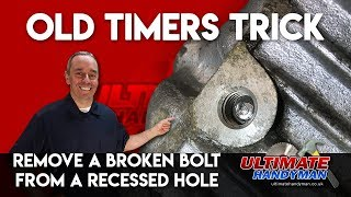 Video How to remove a broken bolt in a deep hole | remove broken bolt in recessed hole MP3, 3GP, MP4, WEBM, AVI, FLV Juni 2019