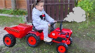 Video Funny Baby Unboxing And Assembling The POWER Wheel Ride on Tractor Excavator Kids car download in MP3, 3GP, MP4, WEBM, AVI, FLV January 2017